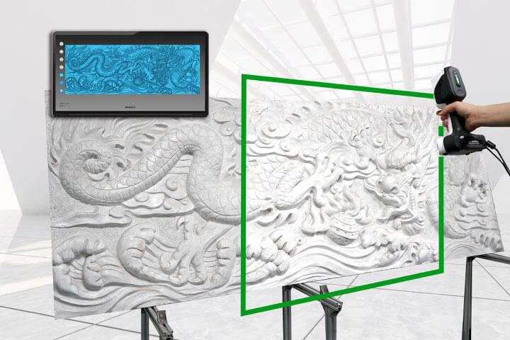 Escaner 3D Color SCANTECH iREal 2E mural