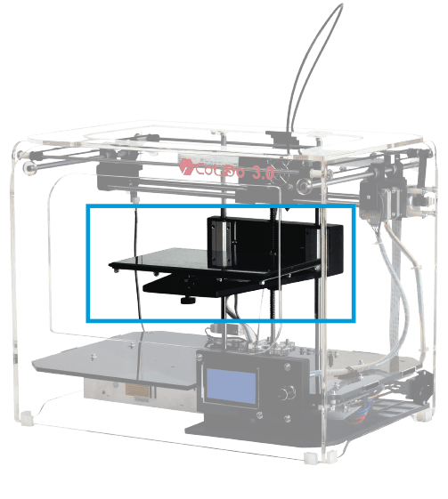 Impresora 3D COLIDO 3.0 plataforma de cristal