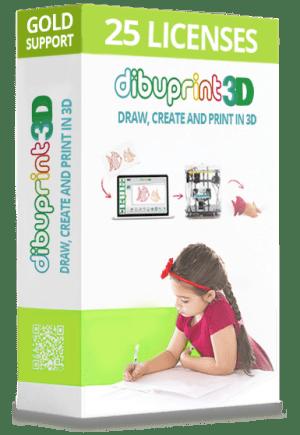 Licencias Dibuprint3D Educacion 25 licencias