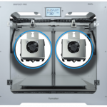 detalle cabezales Impresora 3D TUMAKER Pro DUAL Bowden Bowden